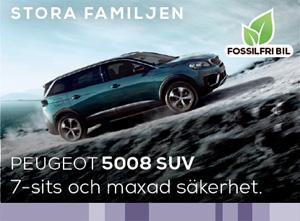 Peugeot 5008 SUV med 7-sits - perfekt för den större familjen.