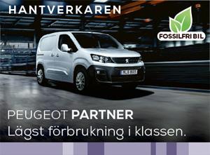 Peugeot Partner - perfekt för dig som är hantverkare.